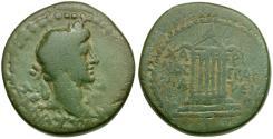Ancient Coins - Augustus. Mysia. Pergamum AE20 / Hexastyle temple