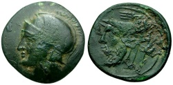 Ancient Coins - Akarnania. Akarnanian League Æ22 / River god