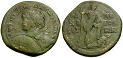 Ancient Coins - Caracalla. Thrace. Hadrianopolis Æ28 / Emperor and Captive