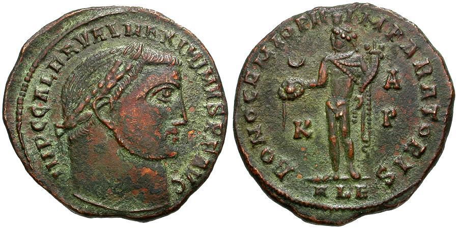 Ancient Coins - Maximinus II as Augustus Æ Follis / Bono