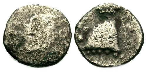 Ancient Coins - VG/aVF Rare Local Celtic Obol of Narbonne Gaul