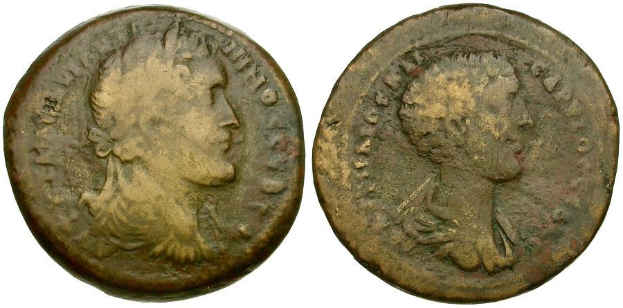 Ancient Coins - Antoninus Pius (AD 138-161) with Marcus Aurelius as Caesar. Cyprus. Koinon Æ34