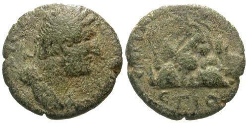 Ancient Coins - VG/gF Hadrian AE15 Caesareia Cappadocia / Mount Argaeus