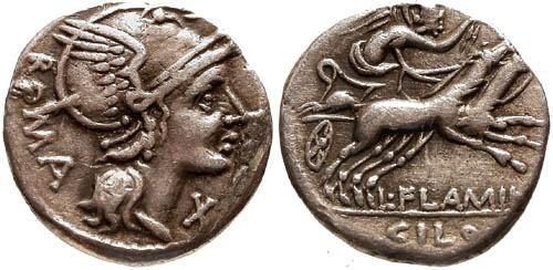 Ancient Coins - 109-108 BC / Roman Republic Denarius / Roma