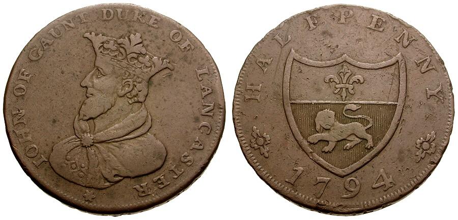 World Coins - Great Britain. Æ Conder Token. Lancashire. Lancaster