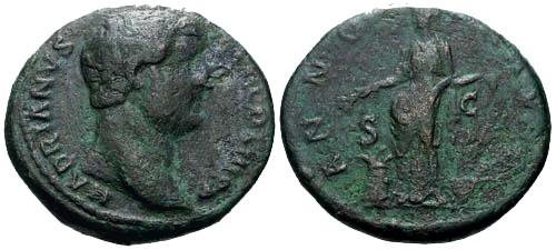 Ancient Coins - gF/gF Hadrian AS / Annona