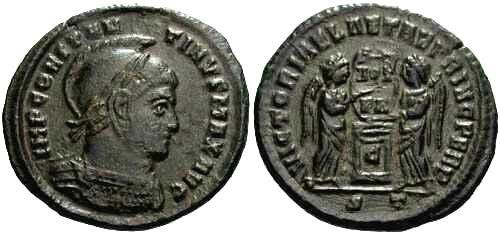 Ancient Coins - gVF Constantine I AE3 / Two Victories