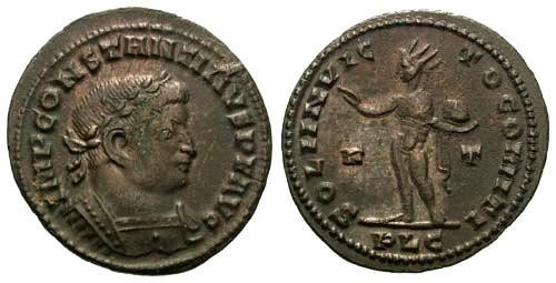 Ancient Coins - VF/VF Constantine the Great / Sol