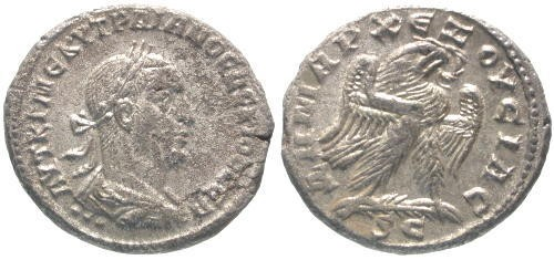 Ancient Coins - aVF/VF Trajan Decius Syrian Billon Tetradrachm
