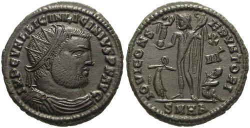 Ancient Coins - aEF/aEF Licinius I Follis / Jupiter  R2