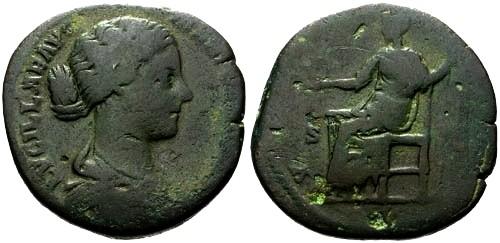 Ancient Coins - gF/gF Lucilla AE Sestertius / Venus