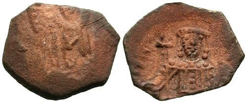Ancient Coins - F/VF Late Byzantine AE Trachy
