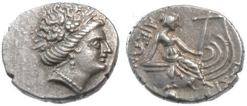 Ancient Coins - EF/EF Euboea Histiaia AR Tetrobol