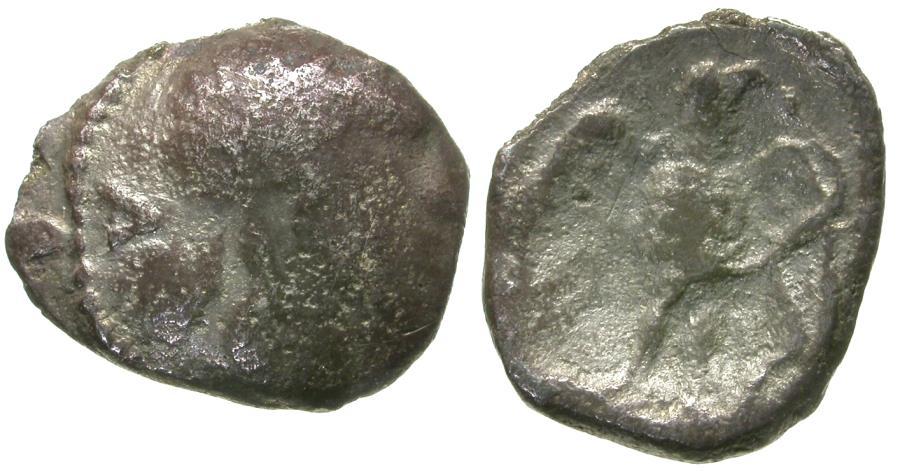 Ancient Coins - Celtic tribes of Britain. Atrebates & Regni. Tincommius AR Unit / Eagle