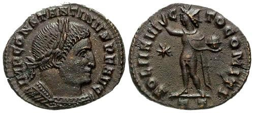 Ancient Coins - VF/VF Constantine I the Great AE / Sol
