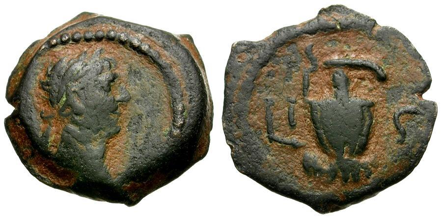 Ancient Coins - Trajan. Egypt. Alexandria Æ Dichalkon / Amphora