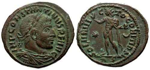 Ancient Coins - VF/VF Constantine I the Great AE / Rare Star and Crescent