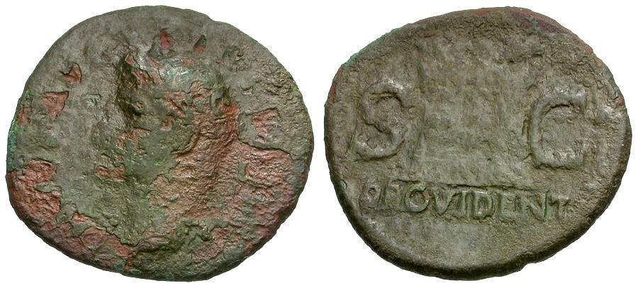 Ancient Coins - Augustus (27 BC-AD 14) Æ AS / Altar