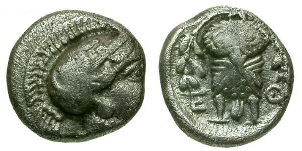 Ancient Coins - aVF/aVF Attica Athens AR Hemidrachm / Athena / Owl facing