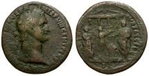 Ancient Coins - Domitian Æ AS / Domitian Sacrificing With Musicians
