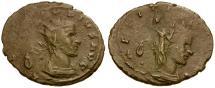 Ancient Coins - Claudius II Gothicus AE Antoninianus / Laetitia