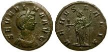 Ancient Coins - Severina Æ Denarius / Venus
