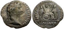 Ancient Coins - Augustus AR Denarius / Gaius and Lucius Caesars