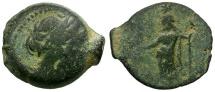 Ancient Coins - Ptolemaic Kings of Egypt. Ptolemy IX or Ptolemaios. Cyprus Mint Æ14 / Zeus