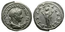 Ancient Coins - Gordian III AR Denarius / Pietas