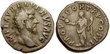 Ancient Coins - Lucius Verus AR Denarius / Providentia