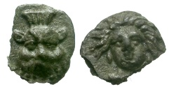 Ancient Coins - Cilicia.  Uncertain Mint AR / Bes