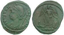 Ancient Coins - Constantine I the Great (AD 307-337) Constantinople Commemorative Æ3 / Victory on Prow