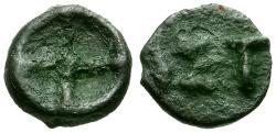 Ancient Coins - Thrace, Istros Æ9 Cast Wheel Money