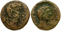 Ancient Coins - Augustus (27 BC-AD 14) with Tiberius. Macedon. Thessalonika Æ20