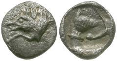 Ancient Coins - Dynasts of Lycia. Uncertain Dynast AR Hemiobol / Hound