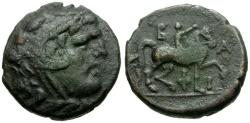 Ancient Coins - Kings of Macedon.  Philip V Æ18 / Youth on Horseback