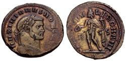 Ancient Coins - Galerius as Caesar Æ Follis / Genius