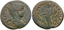 Ancient Coins - Geta, as Caesar (AD 198-209). Phrygia. Apameia Æ24 / Tyche