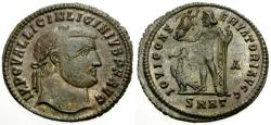 Ancient Coins - aEF/EF Licinius I Silvered Follis / Jupiter
