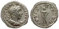 Ancient Coins - Gordian III AR Denarius / Jupiter
