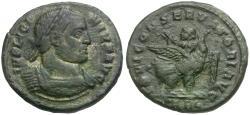 Ancient Coins - Licinius I (AD 308-324) Æ3 / Emperor on Eagle