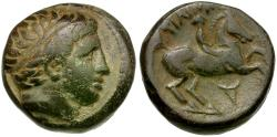 Ancient Coins - Kings of Macedon. Philip II (359-336 BC) Æ16 / Youth on Horseback