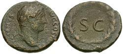 Ancient Coins - Hadrian (AD 117-138) Æ AS / SC