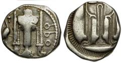 Ancient Coins - Bruttium. Kroton AR Nomos / Tripod
