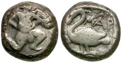 Ancient Coins - Cilicia. Mallos. AR Stater / Swan