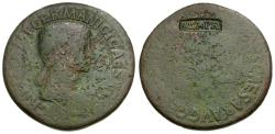 Ancient Coins - Agrippina II, Senior (died 33) Æ Sestertius / Countermark