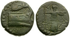Ancient Coins - Lycia Phaselis Æ16 / Athena
