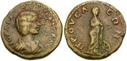 Ancient Coins - Julia Maesa (AD 218-224). Bithynia. Prusa ad Olympum Æ26 / Nemesis