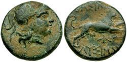 Ancient Coins - Thrace. Lysimachos Æ17 / Lion