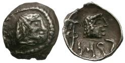Ancient Coins - Arabia Felix.  Himyarites. Scyphate AR Fractional Drachm